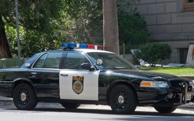 Coche de Policía Ford Crown Victoria. Sacramento