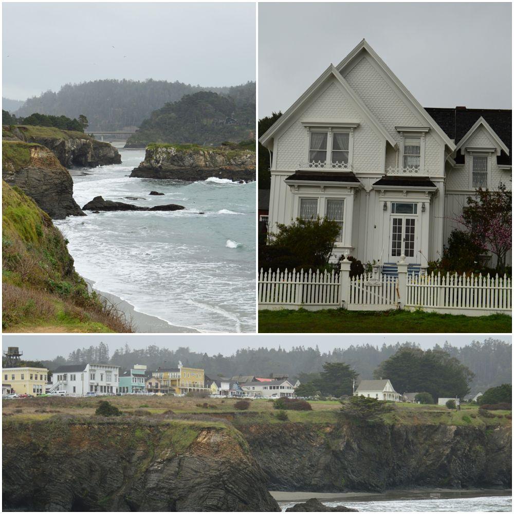 Acantilados. La casa de Jessica Fletcher (Se ha escrito un crimen). Vista de Mendocino.