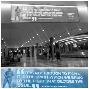 Cartel en el aeropuerto de Sacramento