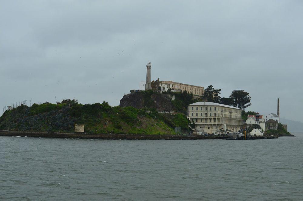 Acercándose a la isla de Alcatraz
