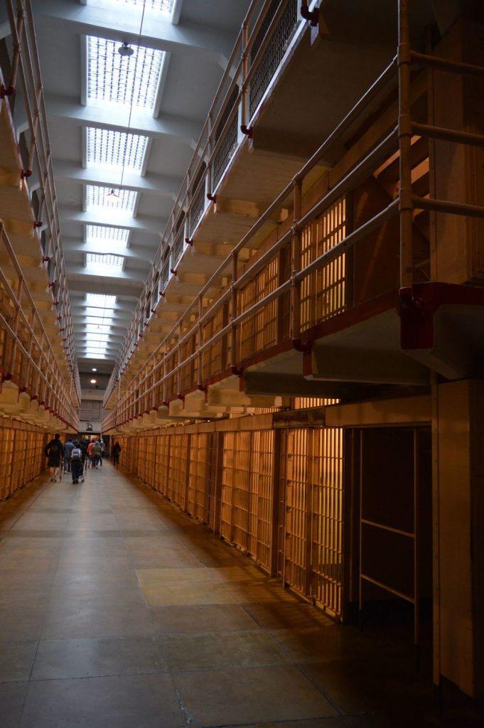 Pasillo central de la prisión de Alcatraz
